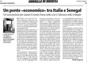 Giornale di Brescia, 18 febbraio 2015