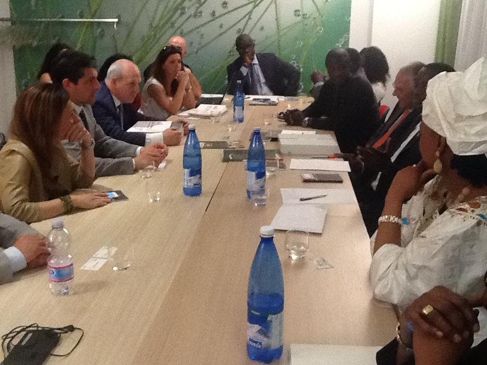 Le ministre du commerce senegalais rencontre les entrepreneurs de Brescia